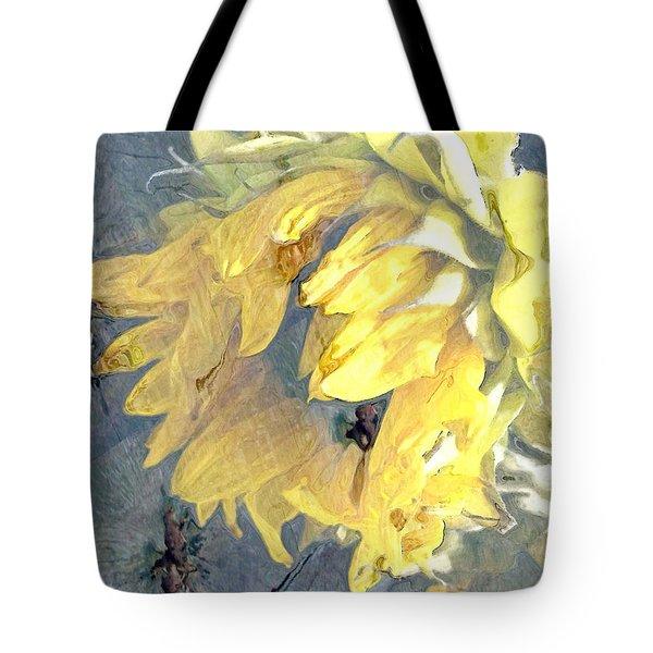 Yellow Fading Flower Tote Bag by Patricia Januszkiewicz