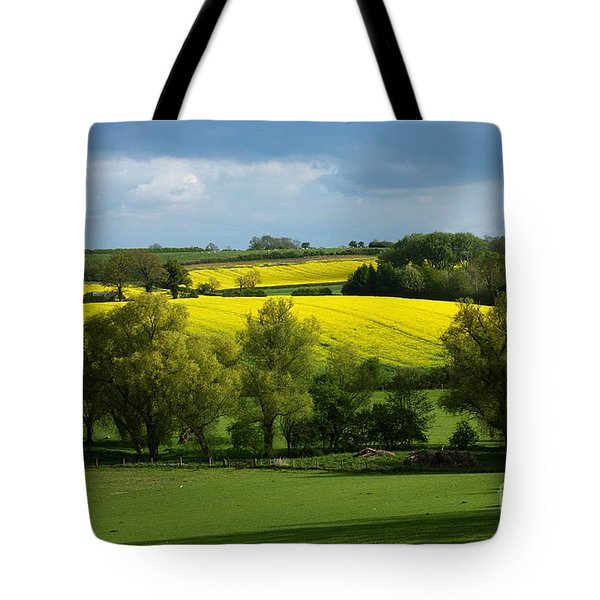 Yellow Fields In The Sun Tote Bag