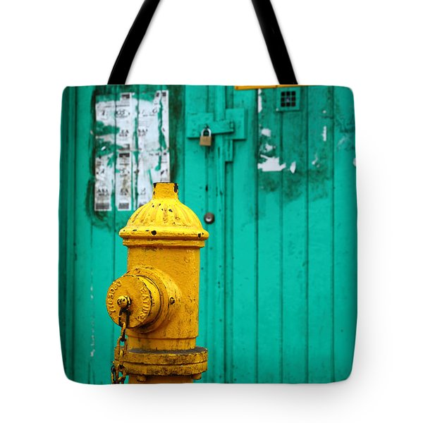 Yellow Fire Hydrant Tote Bag