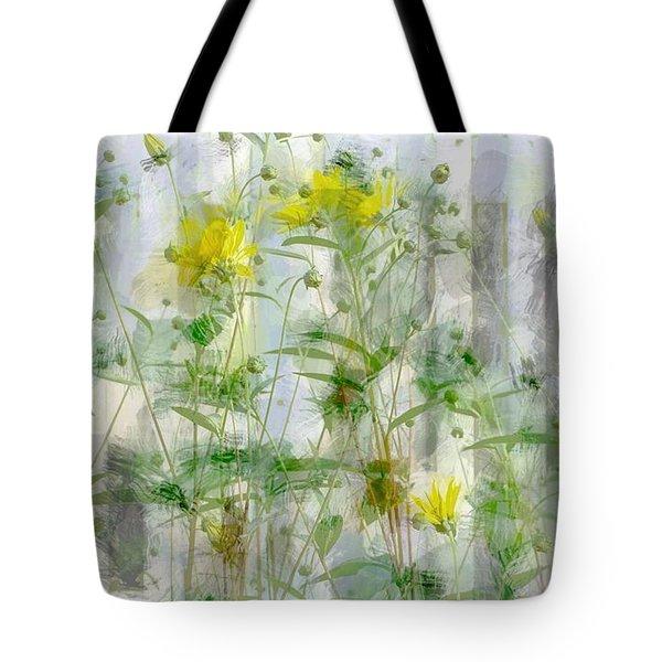 Yellow Flower Garden Tote Bag by The Art Of Marilyn Ridoutt-Greene