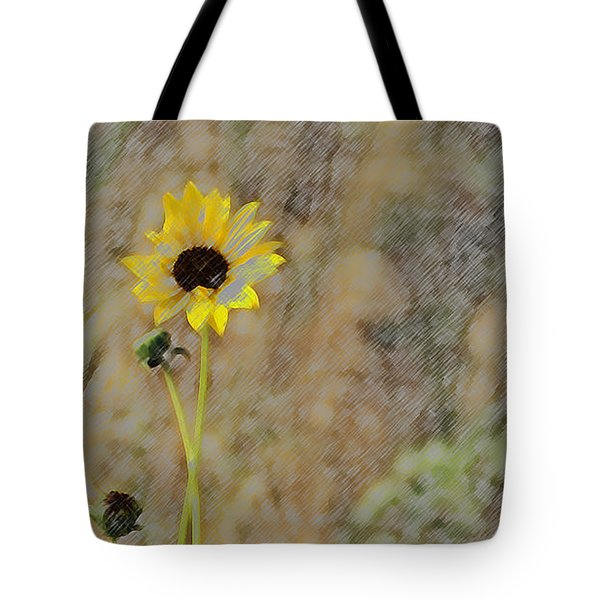 Yellow Flower Tote Bag