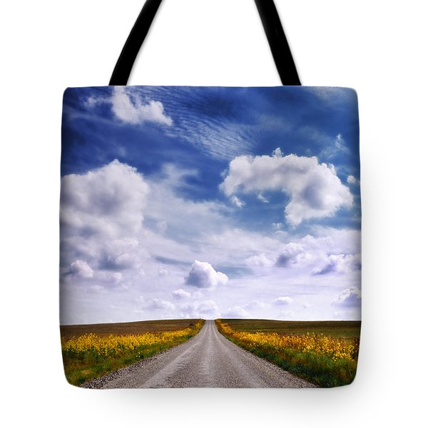 Yellow Flower Road Tote Bag