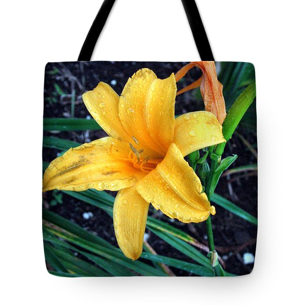 Yellow Flower Tote Bag by Sergey Lukashin