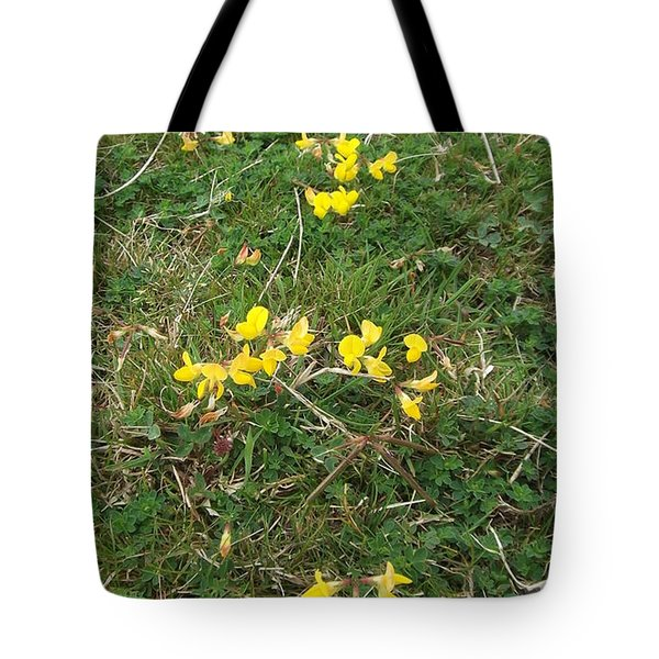 Yellow Flowers Tote Bag by John Williams