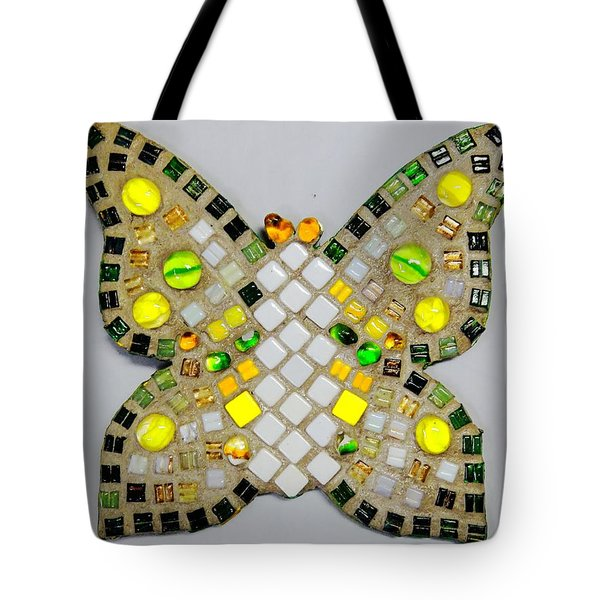 Yellow Flutterby Tote Bag by Lisa Brandel