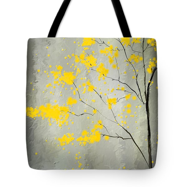 Yellow Foliage Impressionist Tote Bag
