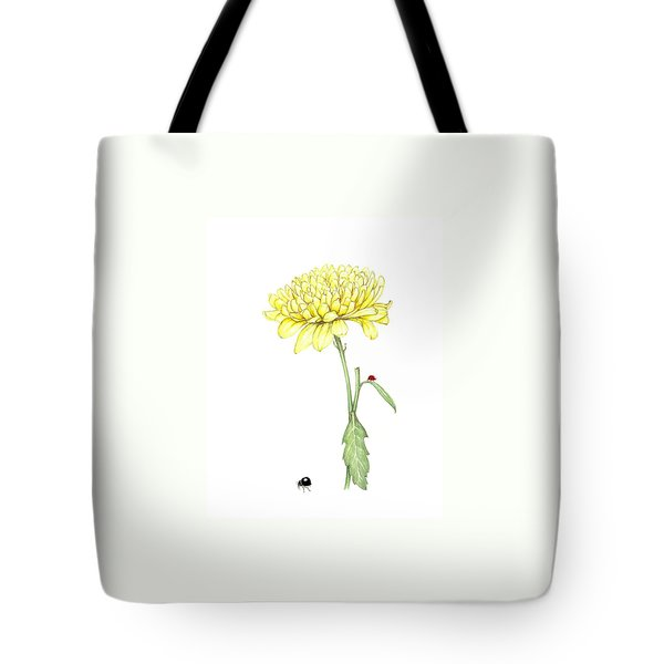 Tote Bag featuring the painting Yellow Fun by Heidi Kriel