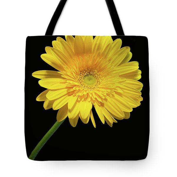 Yellow Gerber Daisy Tote Bag by Joan Powell