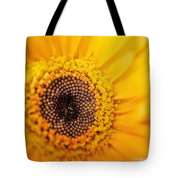 Yellow Gerbera Squared Tote Bag by TK Goforth