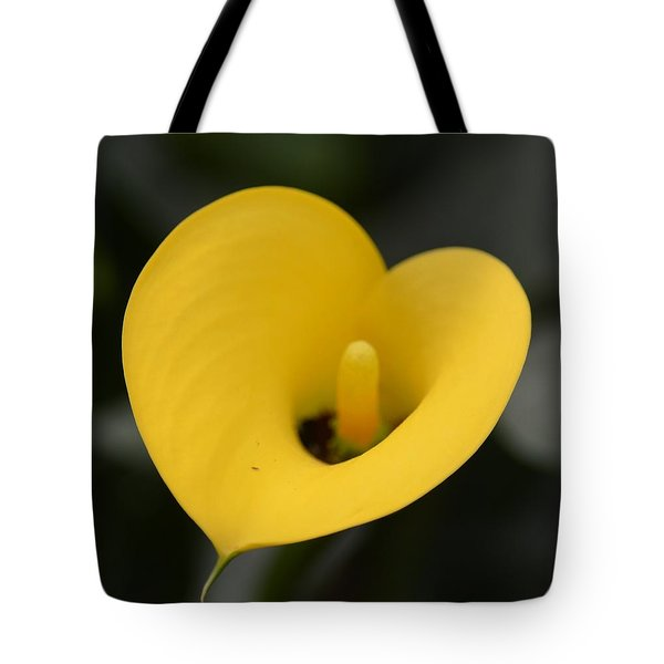 Yellow Heart Calla Tote Bag by Maria Urso