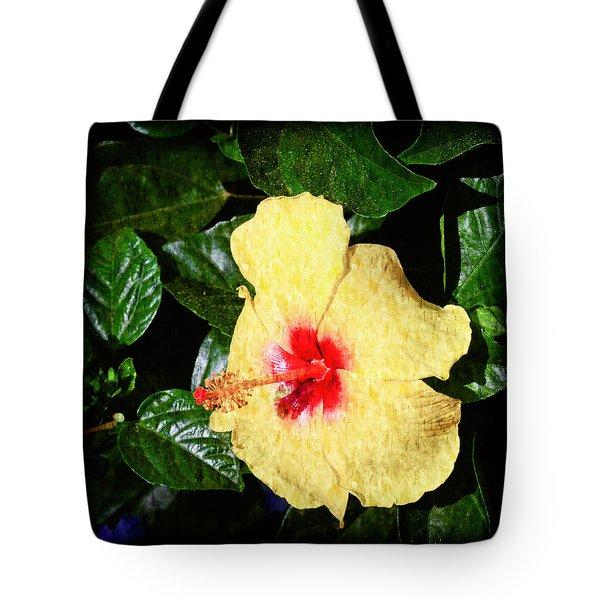Yellow Hibiscus Tote Bag