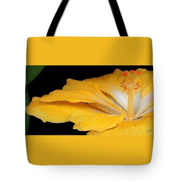 Yellow Hibiscus. Detail Tote Bag by Ben and Raisa Gertsberg