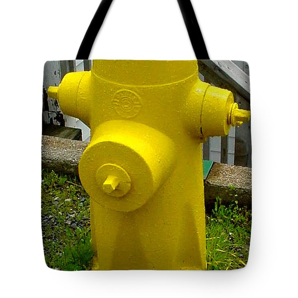 Yellow Hydrant Tote Bag