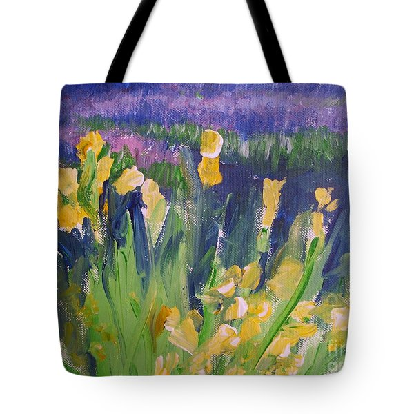 Yellow Iris Tote Bag by Eric  Schiabor