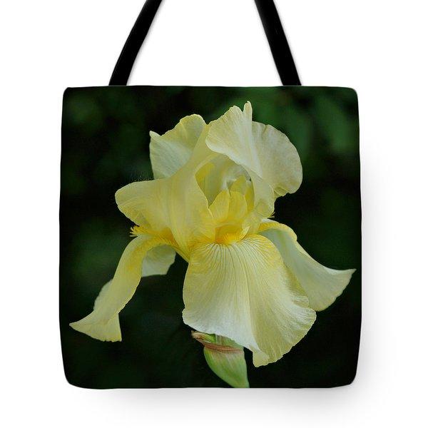 Yellow Iris Tote Bag by Sandy Keeton