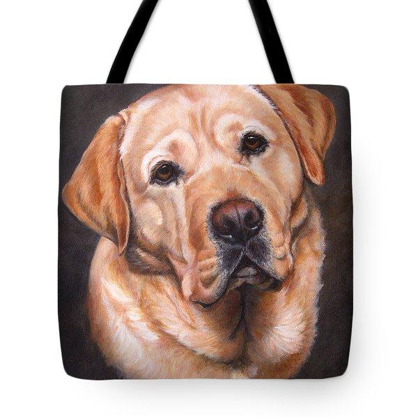 Yellow Labrador Portrait - Dark Yellow Dog Tote Bag