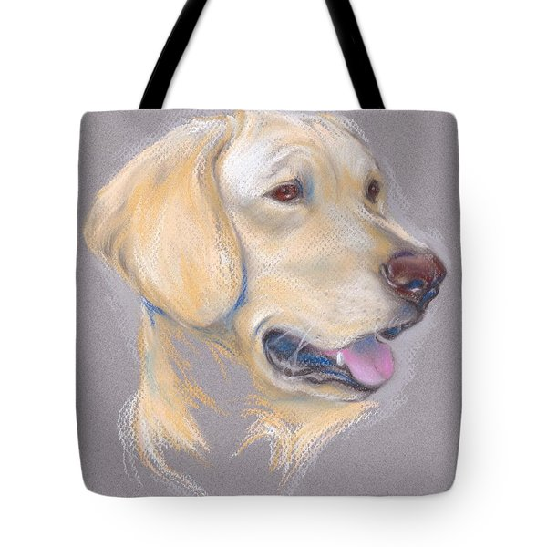 Yellow Labrador Retriever Portrait Tote Bag