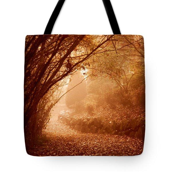 Yellow Leaf Road Tote Bag