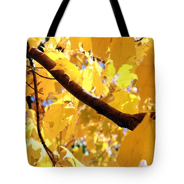 Yellow Leaves Tote Bag by Valentino Visentini
