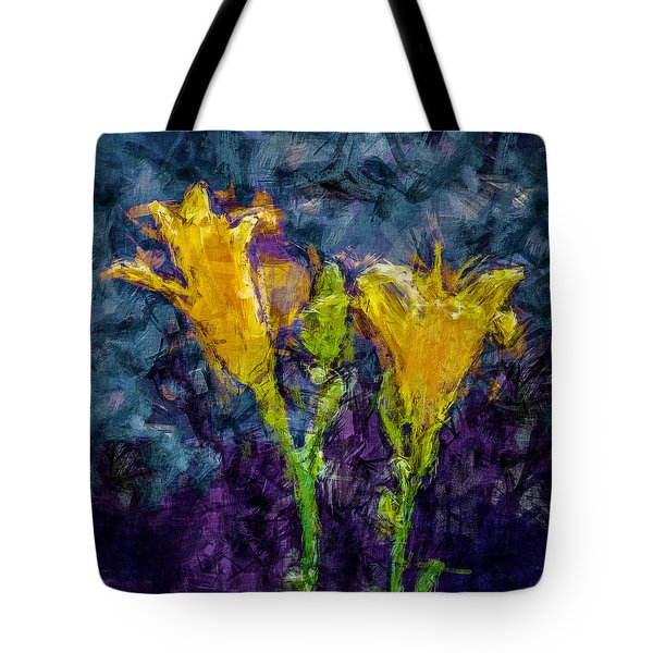 Yellow Lilies. Tote Bag by Celso Bressan