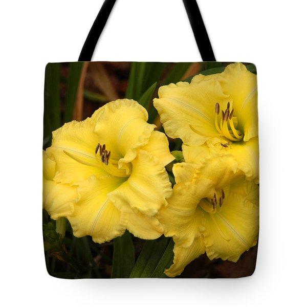Yellow Lillies Tote Bag