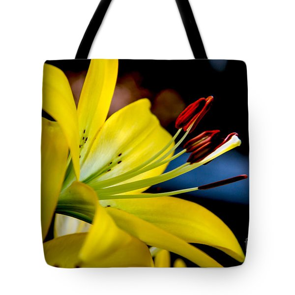 Yellow Lily Anthers Tote Bag by Robert Bales