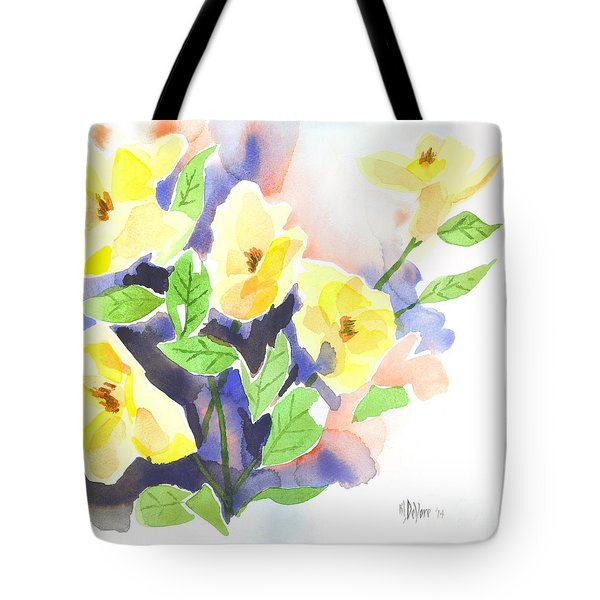 Tote Bag featuring the painting Yellow Magnolias by Kip DeVore