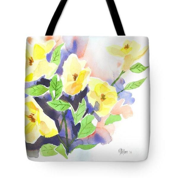 Yellow Magnolias Tote Bag by Kip DeVore