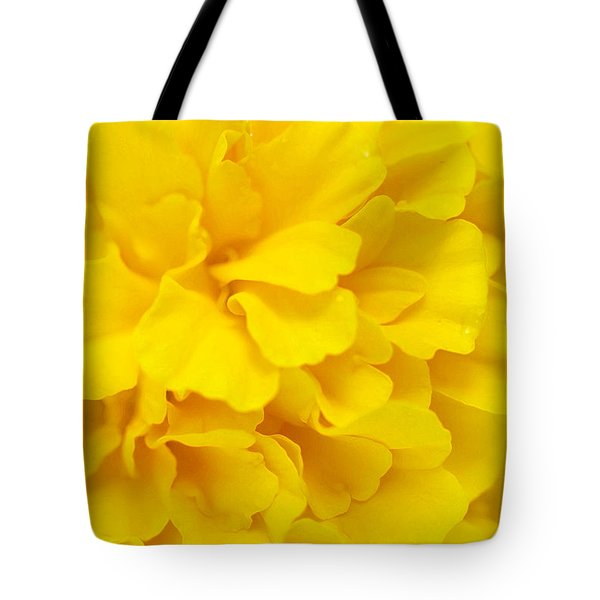 Tote Bag featuring the digital art Yellow Marigold by E B Schmidt