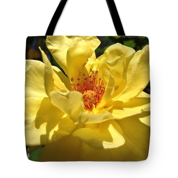 Yellow Monday Rose Tote Bag
