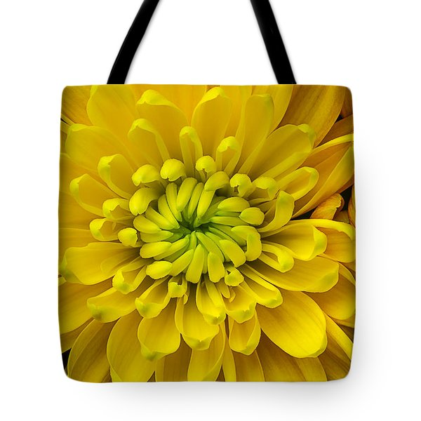 Yellow Mum Tote Bag by Garry Gay