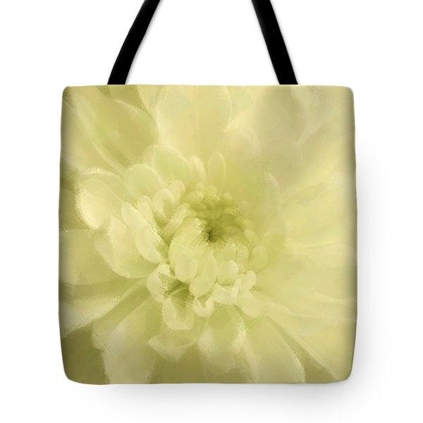Yellow Mum Luminous Painted Blossom Tote Bag