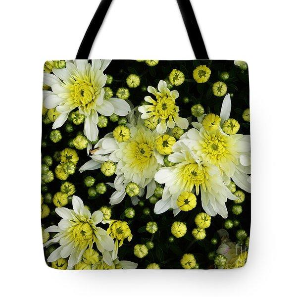 Yellow Mums Tote Bag by Lyric Lucas
