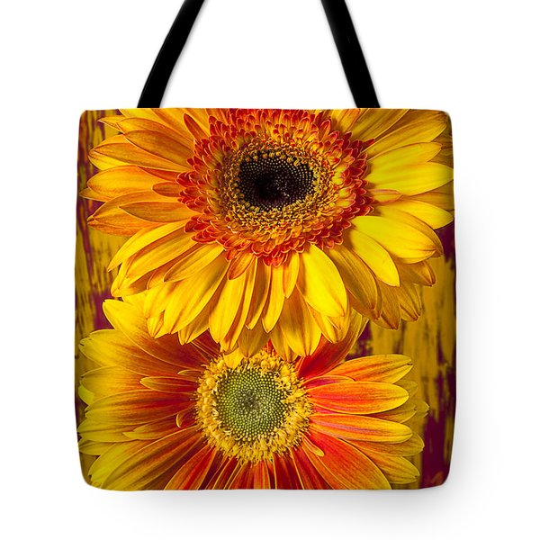 Yellow Mums Together Tote Bag by Garry Gay