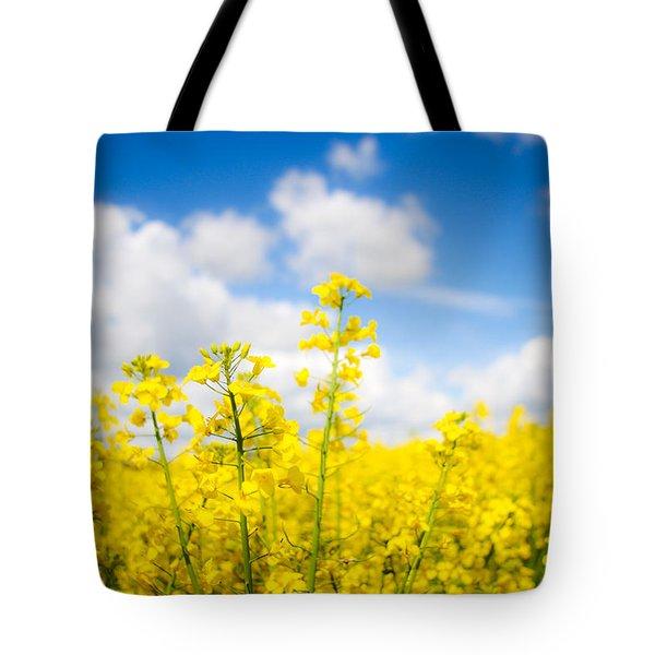 Yellow Mustard Field Tote Bag