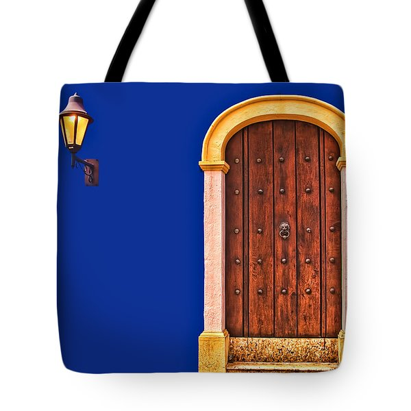 Door And Lamp Tote Bag