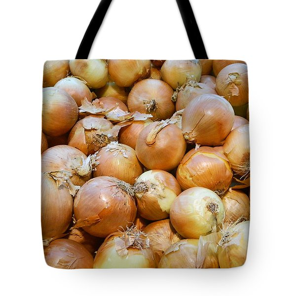 Tote Bag featuring the photograph Yellow Onions by Emmy Marie Vickers