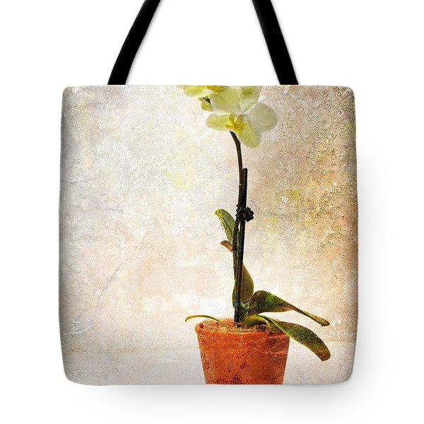 Tote Bag featuring the photograph Yellow Orchid by Patti Deters