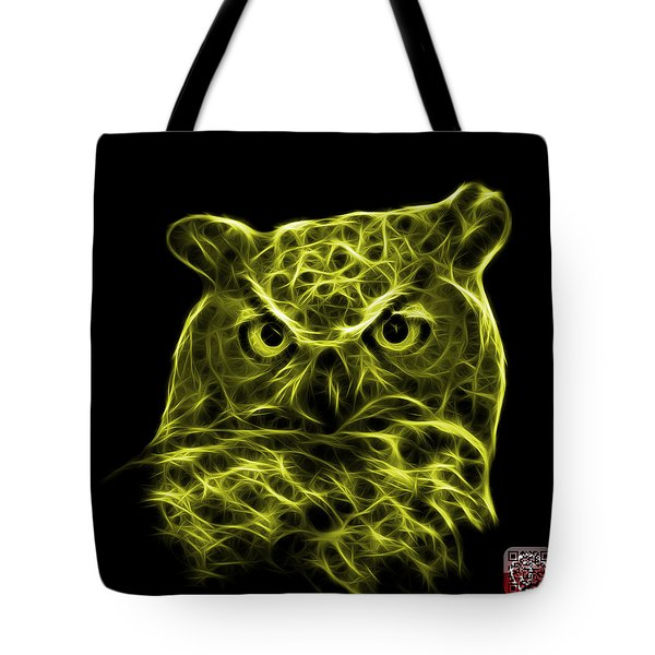 Yellow Owl 4436 - F M Tote Bag by James Ahn