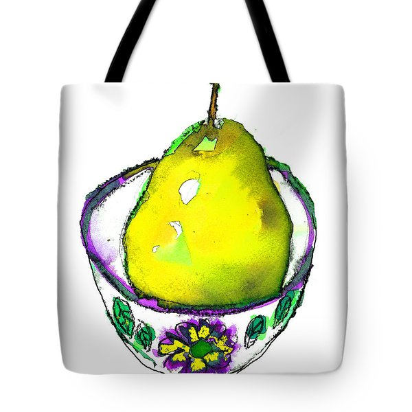 Yellow Pear Tote Bag