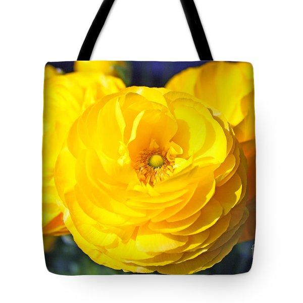 Yellow Peonies Tote Bag