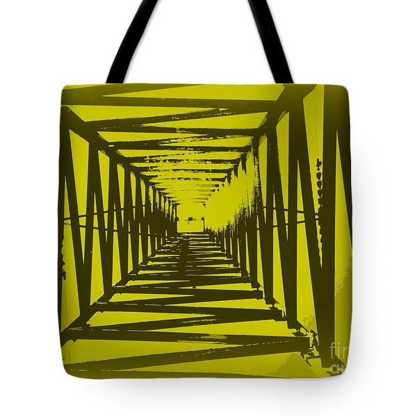 Tote Bag featuring the photograph Yellow Perspective by Clare Bevan