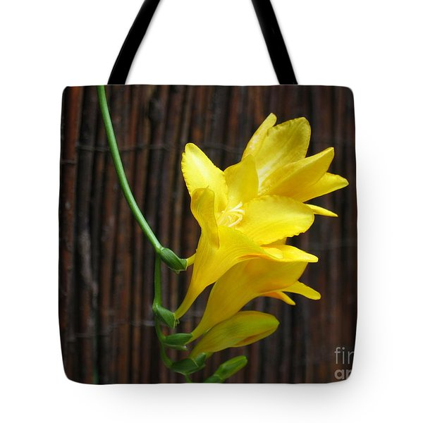 Yellow Petals Tote Bag by HEVi FineArt