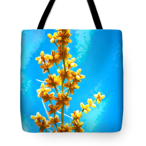 Tote Bag featuring the photograph Yellow Plant by Yew Kwang