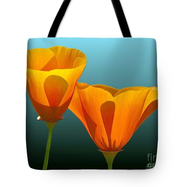 Yellow Poppies Tote Bag by Rand Herron