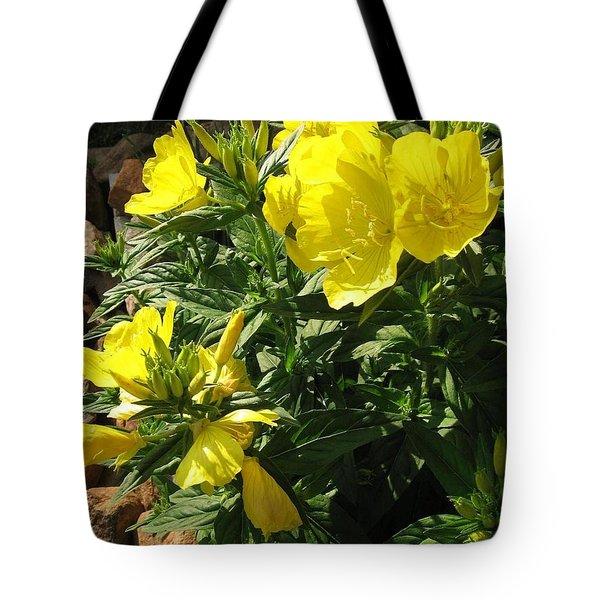 Yellow Primroses Tote Bag