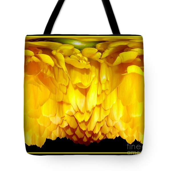 Yellow Ranunculus Abstract Tote Bag by Rose Santuci-Sofranko