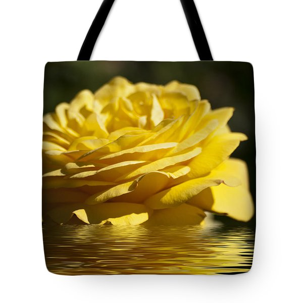 Yellow Rose Flood Tote Bag