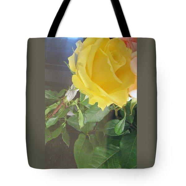 Yellow Rose- Greeting Card Tote Bag