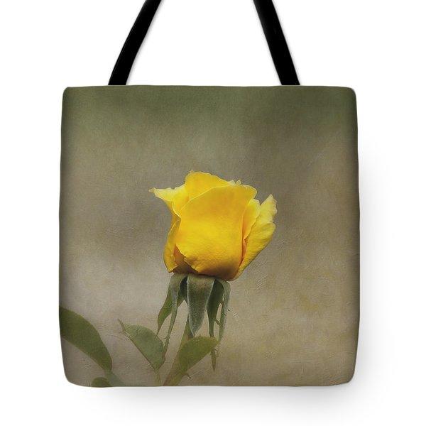 Yellow Rose Tote Bag by Kim Hojnacki